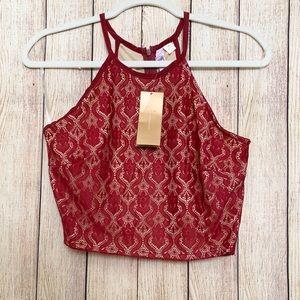 alya•lace crop top. M